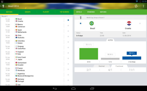 SofaScore World Cup 2014 LIVE