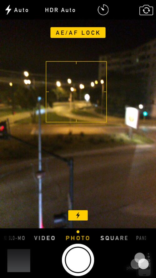 iOS 8 camera interface