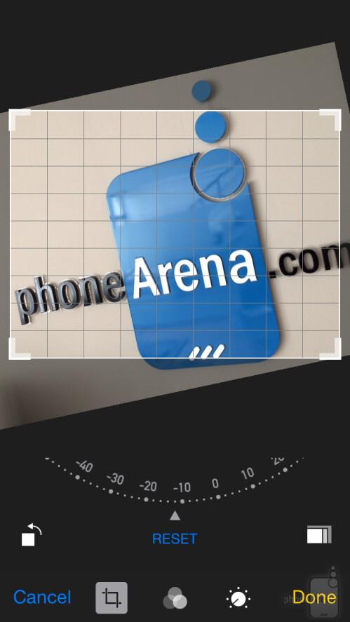 iOS 8 image editor