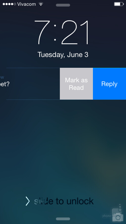 Quick replies to messages in iOS 8