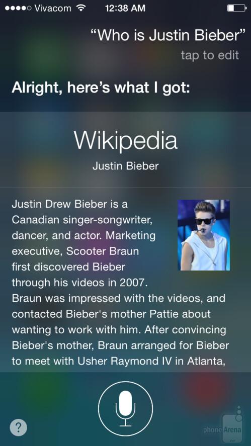 Siri in iOS 8