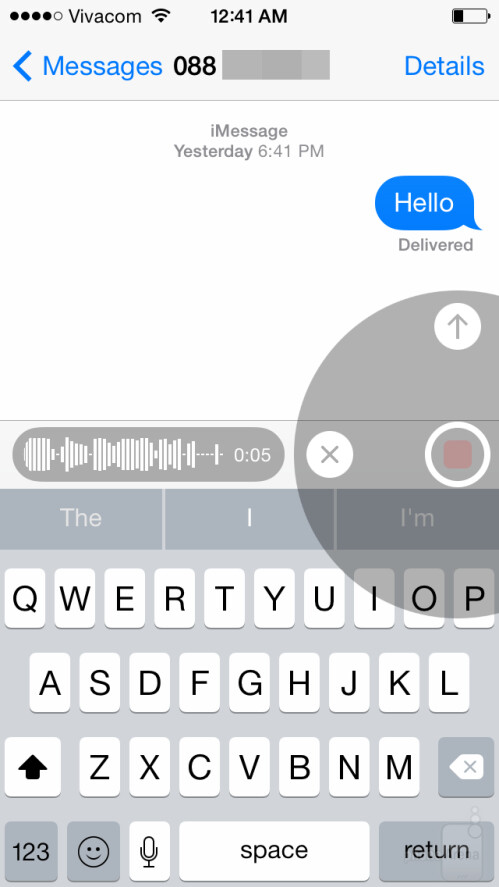 Voice message in iOS 8