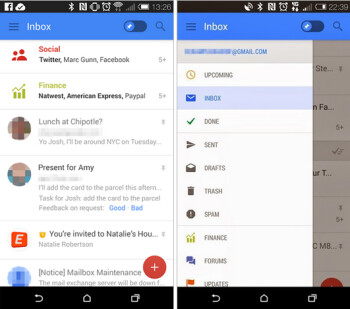 Leaked screenshots showing new look of the Android Gmail app