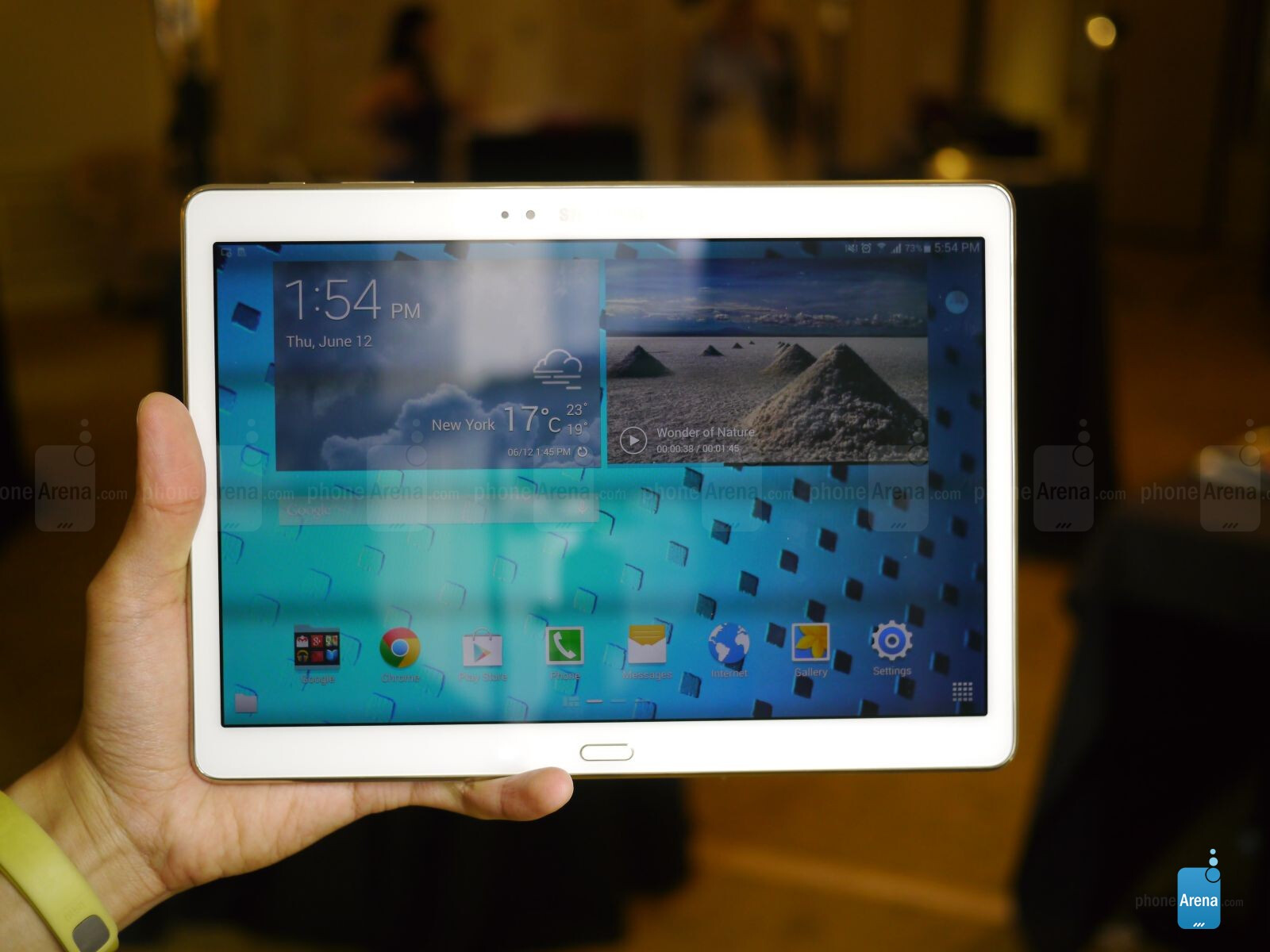 samsung galaxy tab s 10 5 hands on phonearena reviews. Black Bedroom Furniture Sets. Home Design Ideas