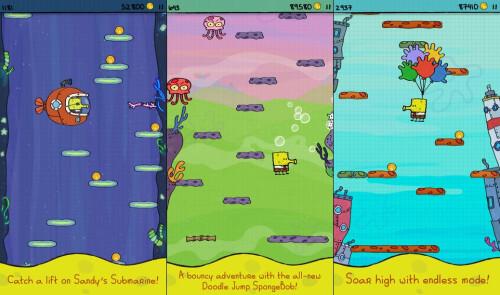 Doodle Jump SpongeBob SquarePants - Android, iOS - $0.99