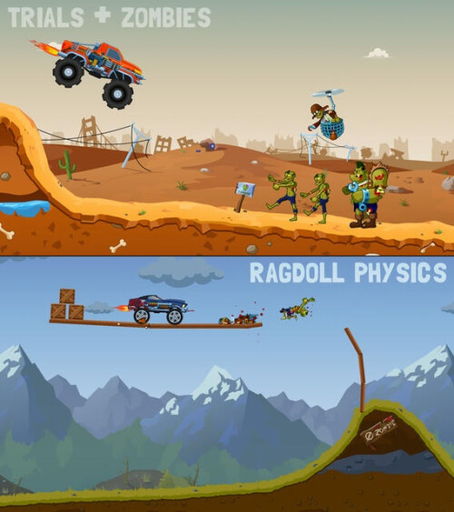Zombie Road Trip Trials - Android, iOS - Free