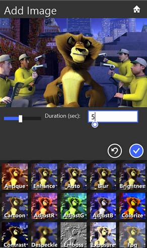 Screenshots from Movie Maker 8.1