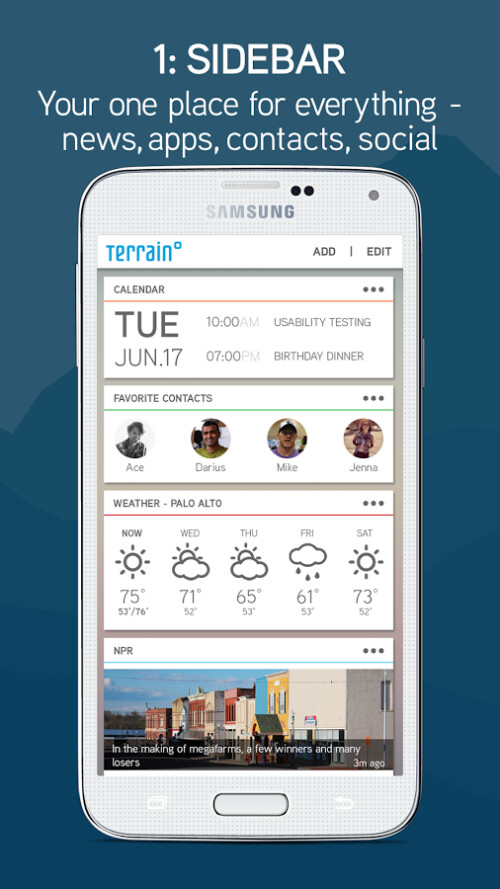 Terrain Home Android launcher