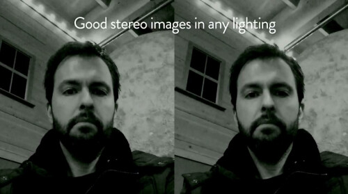 Having 4 cameras that see in all conditions, allows for good stereo pictures at all times