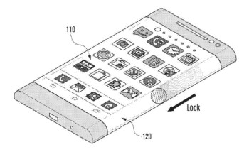 A Samsung patent visualizing a 'wraparound' curved display