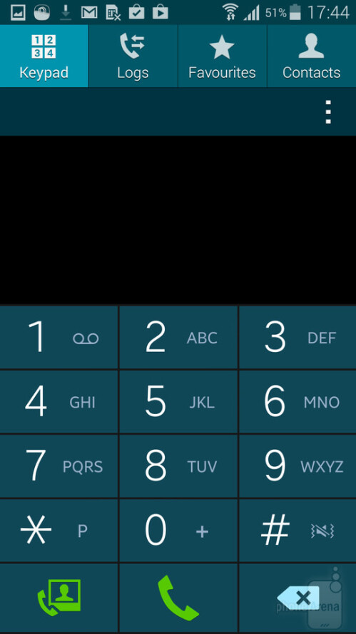 TouchWiz, as it appears on the Galaxy S5