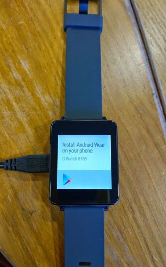 LG G Watch leaks out in another live image
