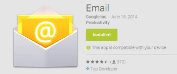Stock Android email app now available on Google Play