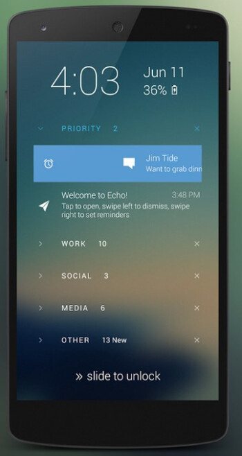 New Echo Lockscreen app puts order in the Android notification chaos