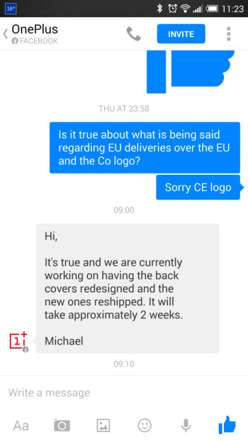 OnePlus One for Europe delayed once again, OnePlus altered a mandatory certification logo