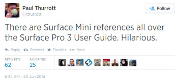 Tweet from Paul Thurrott mentions Microsoft's slip-up