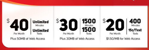 Virgin Mobile's payLo plan has three different options