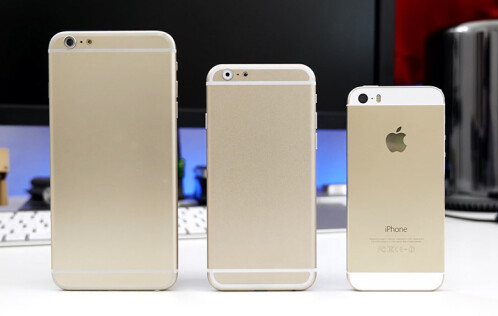 4, 4.7, and 5.5-inch iPhones sized up