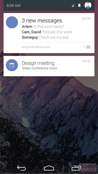 Android 5.0 Lollipop new design images