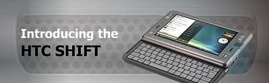 HTC Shift - HTC Shift is a UMPC phone that can replace your laptop
