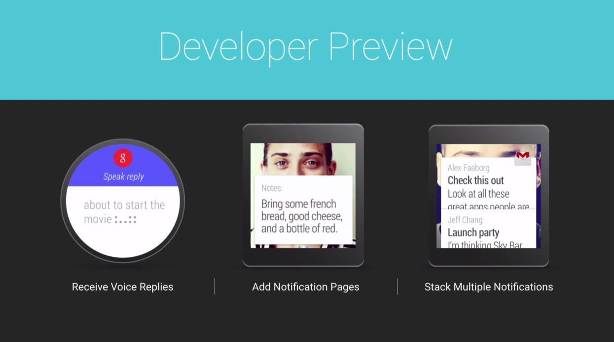 Developer Preview of Android Wear