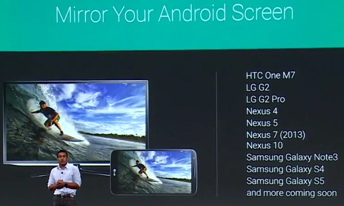 Chromecast can now mirror your Android screen to your TV