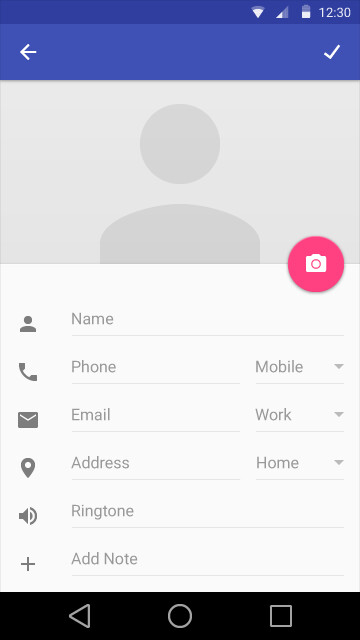 Material Design - screenshots