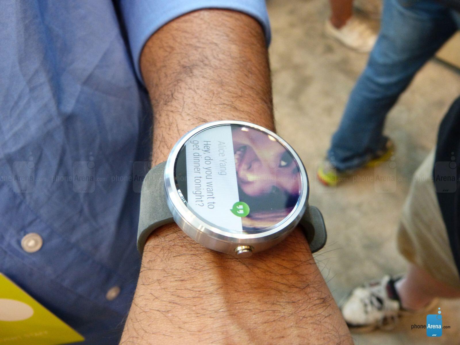 Motorola Moto 360 hands-on