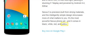 Looks like the Nexus 5 will soon be available in yellow