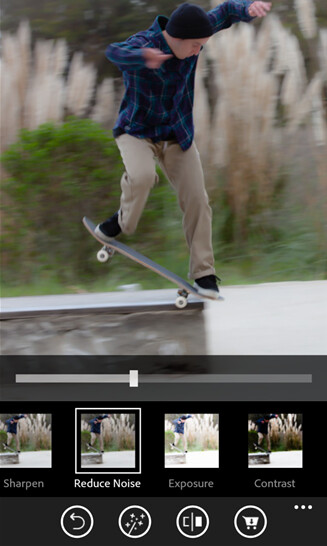 Screenshots from the Adobe Photoshop Express app for Windows Phone