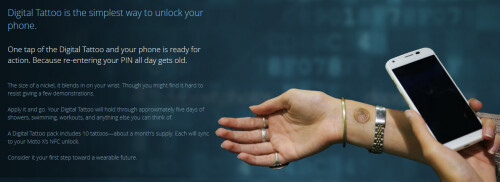 Digital tattoo can unlock your Motorola Moto X