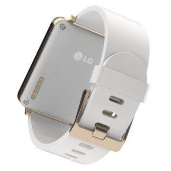 The G Watch's wireless charging pins