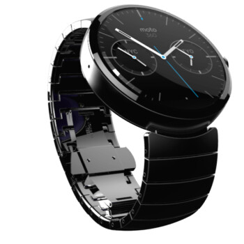 The Moto 360 has a circular display