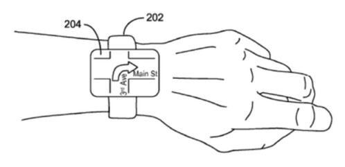 Smartwatch receives images wirelessly from a smartphone