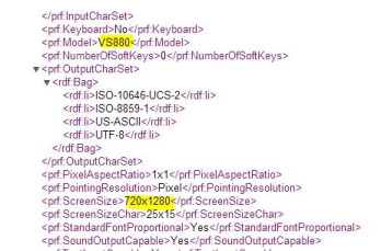 User Agent profile reveals a 720 x 1280 resolution for the screen on the LG G Vista