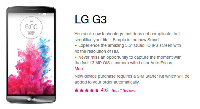 The LG G3 is rumored to launch July 16th on T-Mobile - LG G3 tipped to launch July 16th via T-Mobile; two other devices rumored for July 23rd release