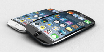 An artists rendition of a curved iPhone
