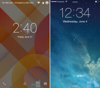 The Android L and iOS 8 lock screens