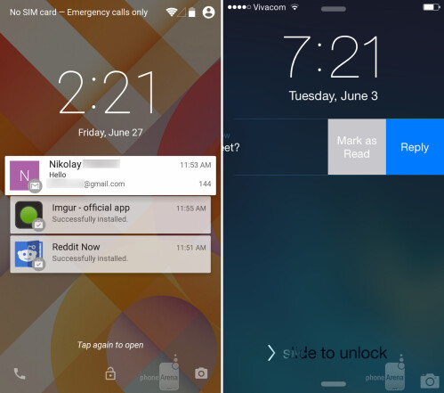 Interacting with lock screen notifications