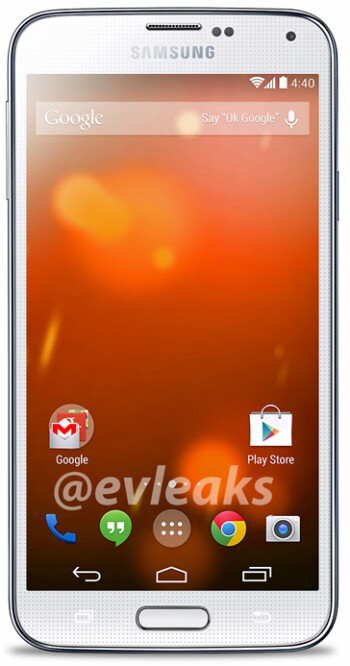 Samsung Galaxy S5 Google Play Edition render apparently leaked