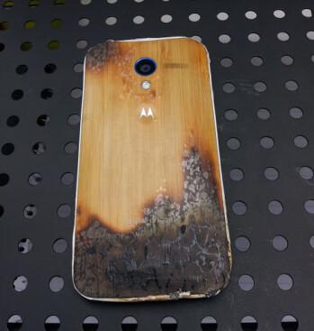 Motorola Moto X takes a burning, keeps on churning