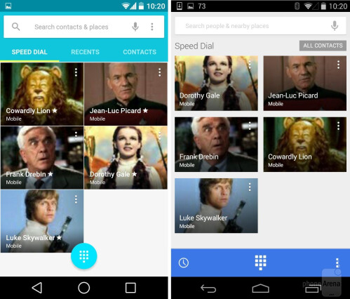 Contacts #1 (current Android L Preview)