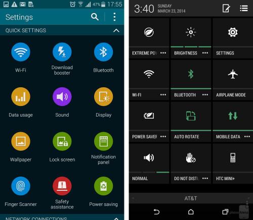 Samsung Galaxy S5 vs HTC One (M8): reader's choice