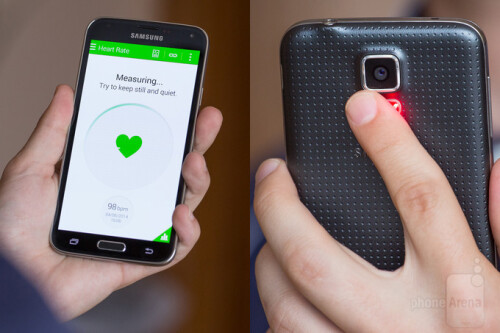 Samsung Galaxy S5's heart rate monitor