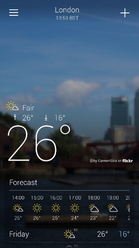 Yahoo Weather is well designed