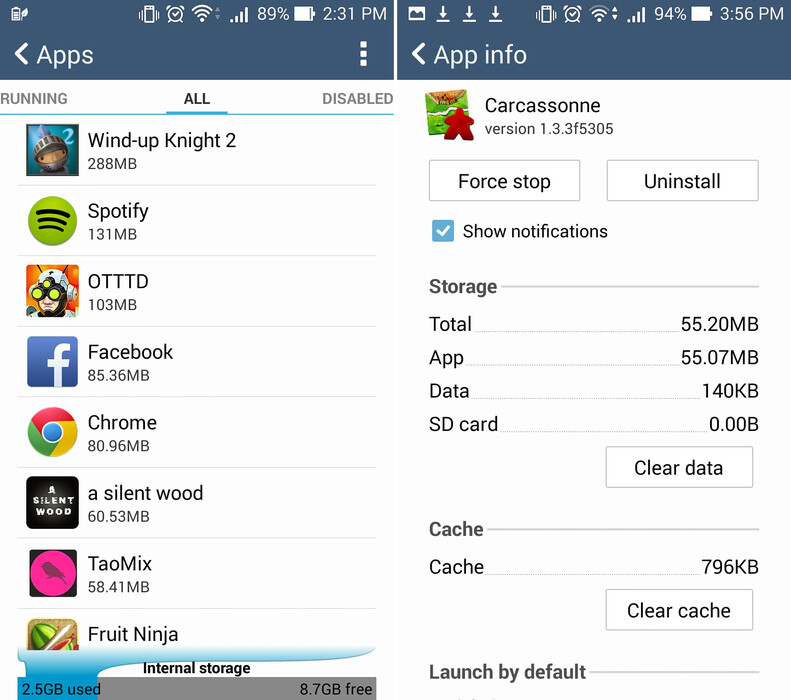 Uninstall apps that you don't use