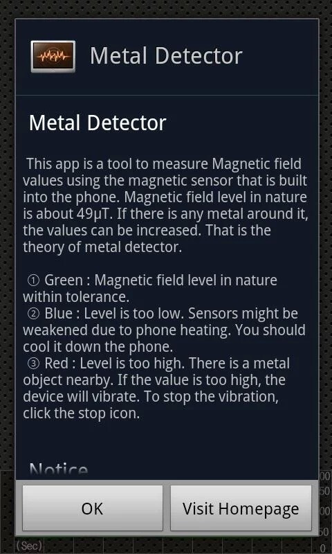 Metal Detector uses your phone's magnetometer to find hidden treasures