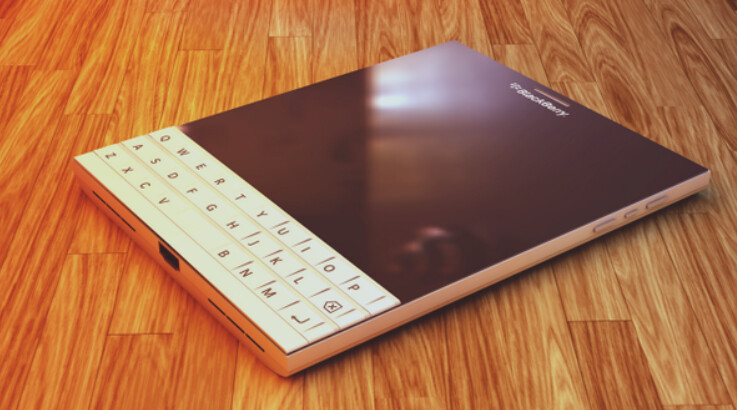 Concept shows the BlackBerry Passport in white - BlackBerry Passport concept shows how the phone will look in white