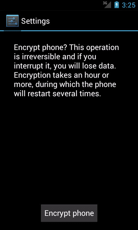 Use device encryption