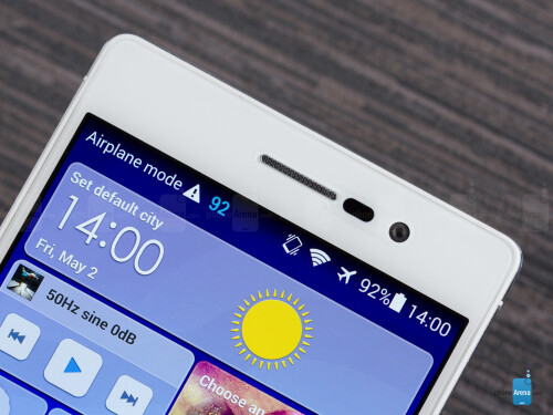 The 8MP front-facing camera on the Huawei Ascend P7